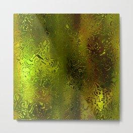 Green forest liquid Metal Print