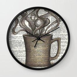 Cupfull of Happy Wall Clock