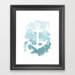 Nautical Watercolor Framed Art Print