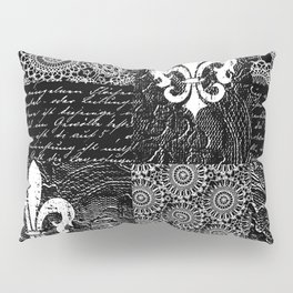Black and white lace Pillow Sham