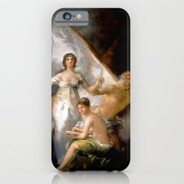 """Francisco Goya """"Truth, Time and History"""" iPhone Case"""