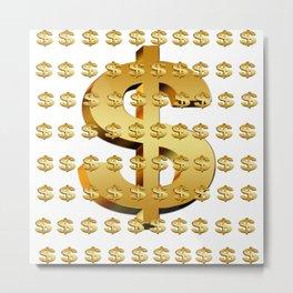 dollar money gold finance Metal Print