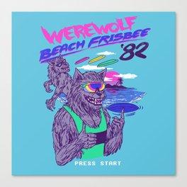 Werewolf Beach Frisbee Canvas Print