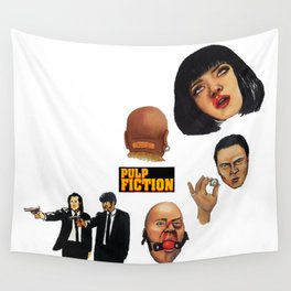 Pulp Fiction Movie Poster Mia Wallace Classic Wall Tapestry