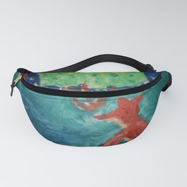 Little Fox at moonshine Fanny Pack