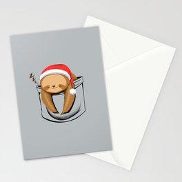 Sloth in a Pocket Xmas Stationery Cards