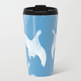 White Birds Against The Blue Sky #decor #society6 #homedecor Travel Mug