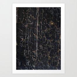 BLACK ROCK Art Print