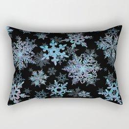 """Embroidered"" Snowflakes Rectangular Pillow"