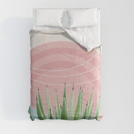 Agave in the Desert Oasis #2 #tropical #wall #art #society6 Comforters