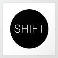 shift typewriter key [ 2 ] Art Print