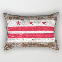 Washington D.C. Flag on Brick District of Columbia Standard Rectangular Pillow