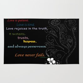 Love Never Fails Rug