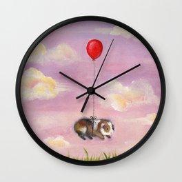 Balloon Ride - Guinea Pig With Balloon Wall Clock