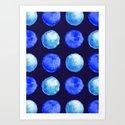 Winter Blue Watercolor Large Dots Pattern by borianagiormova