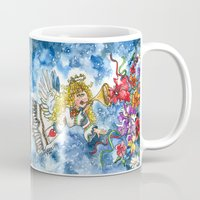 angel Mugs featuring Angel by Shelley Ylst Art