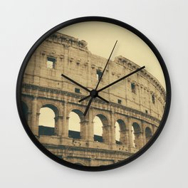 Brown Colosseum Wall Clock
