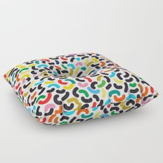 colored worms Floor Pillow