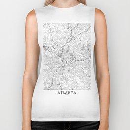 Atlanta White Map Biker Tank