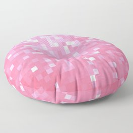 Bubblegum Pink Pixel Sparkle Floor Pillow