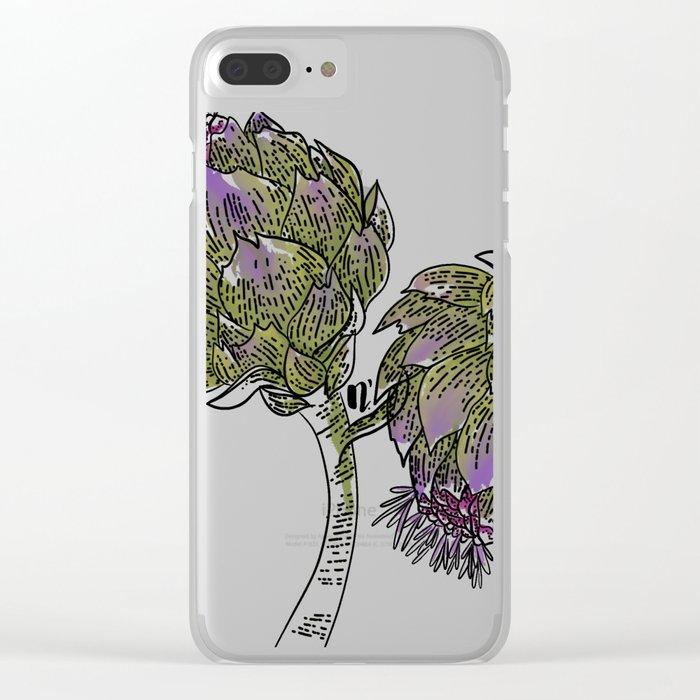 Wild Artichokes Clear iPhone Case