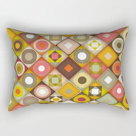 parava retro diagonal Rectangular Pillow