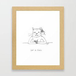CAT • A • TONIC Framed Art Print