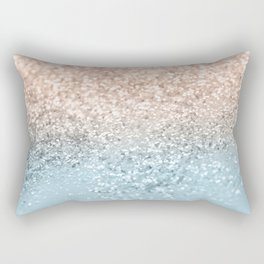 Blush Glitter Dream #2 #shiny #decor #art #society6 Rectangular Pillow