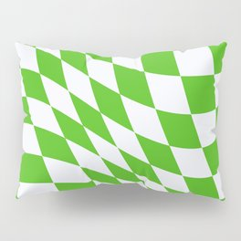 Warped Check - Kelly Green  Pillow Sham