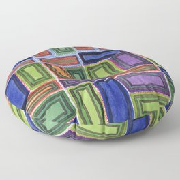 Melodic Rectangles Pattern Floor Pillow