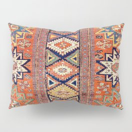 Southwestern Farmhouse III // 19th Century Colorful Red Yellow Blue Green Aztec Farm Stars Pattern Pillow Sham