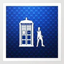 Tardis Blue Phone Box Art Print