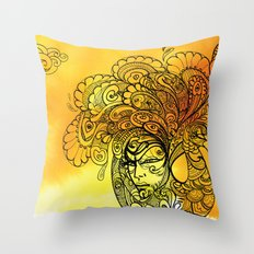 PEACOCKS CAN FLY Throw Pillow