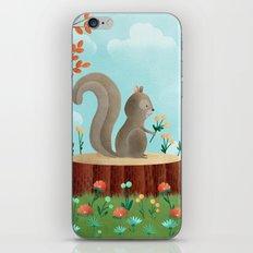Woodland Friends - Squirrel iPhone & iPod Skin