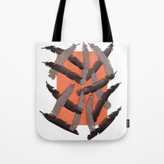 Leather Feathers Tote Bag