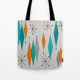 Mid-Century Modern Diamond Pattern Tote Bag