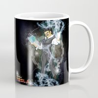 dbz Mugs featuring DBZ Tesla Milky Way by Hushy