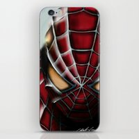 spider man iPhone & iPod Skins featuring Spider-Man by Inspirations
