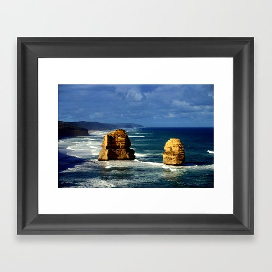Limestone Rock Stacks & Headlands Framed Art Print