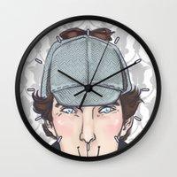 sherlock Wall Clocks featuring Sherlock by enerjax