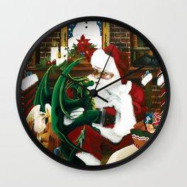Seasons Greeting's Wall Clock