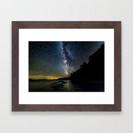 Moosehead Lake Milky Way Framed Art Print