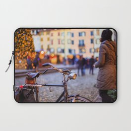 Bicycle in front of a christmas tree Laptop Sleeve