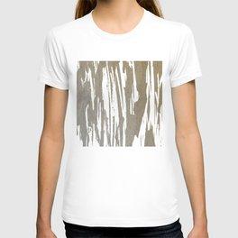 Abstract Taupe Splash Design T-shirt