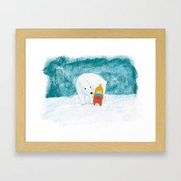 Polarbear friend Framed Art Print