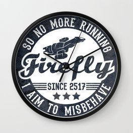 Misbehave Badge V1 Wall Clock