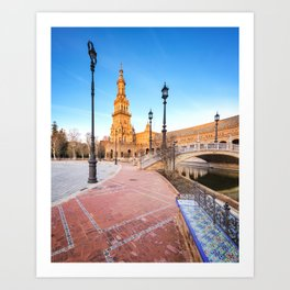 Plaza de España, Sevilla, Spain 4 Art Print
