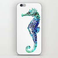 sea horse iPhone & iPod Skins featuring Sea Horse by LebensART