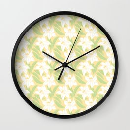 Japanese Floral Pattern 01 Wall Clock