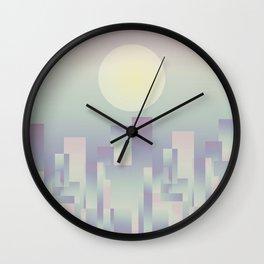 Opalescent dawning Wall Clock